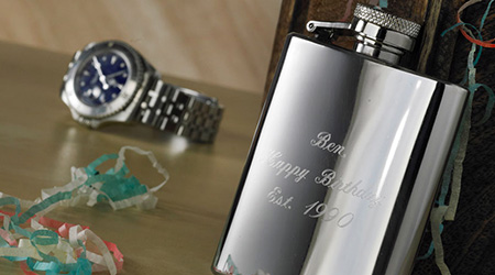 Free Hip Flask Engraving