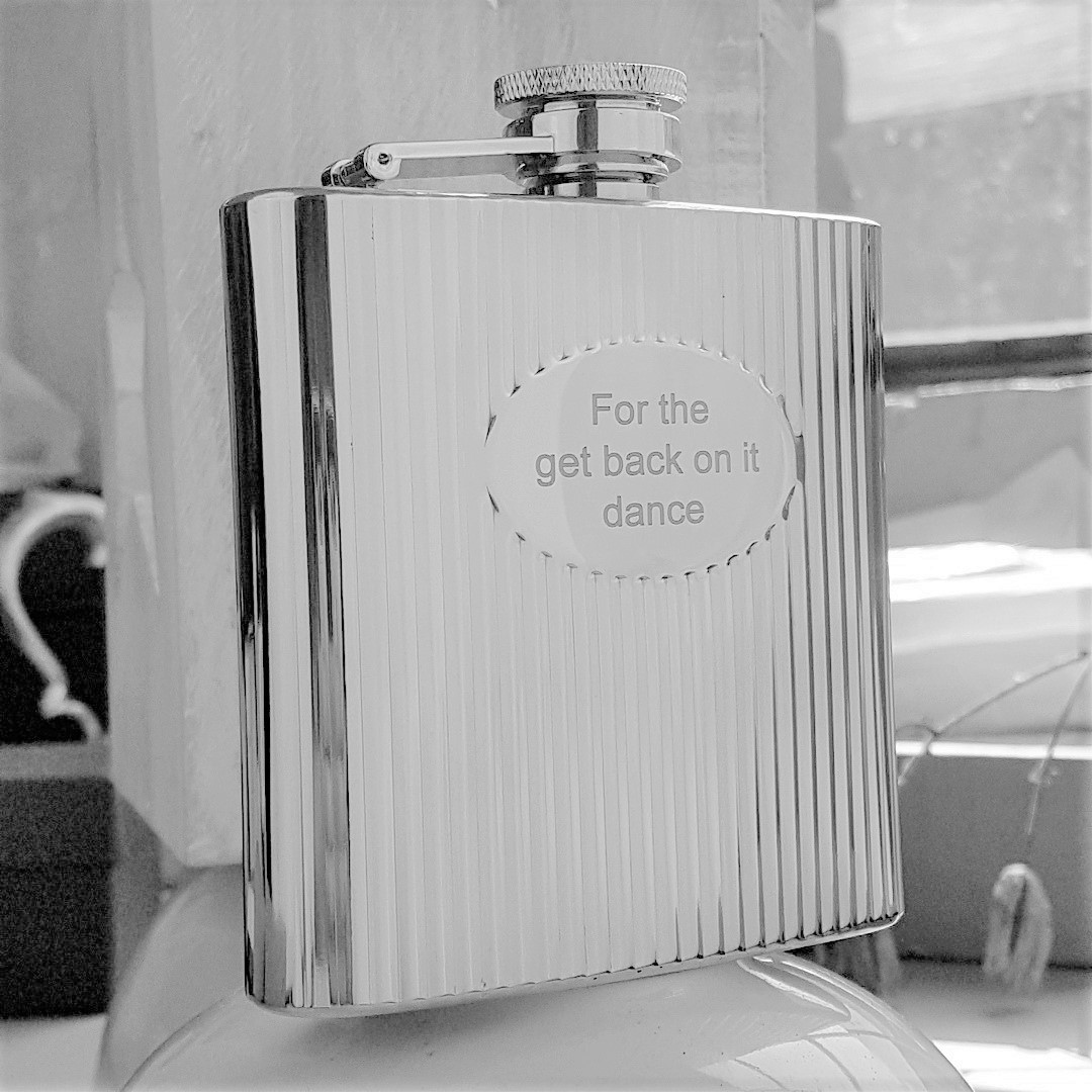 Personalised Ribbed Hip Flask