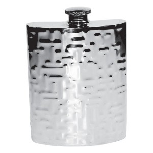 Hip Flask With Modern Texture Supplied In Presentation Box