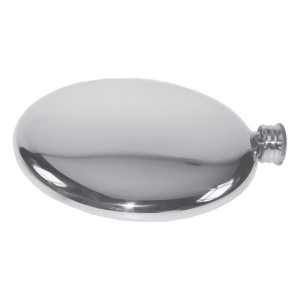 Discus Round Engraved Hip Flask with FREE ENGRAVING & Gift Box