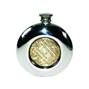 Celtic Gold 6oz Flask with FREE ENGRAVING and Gift Box