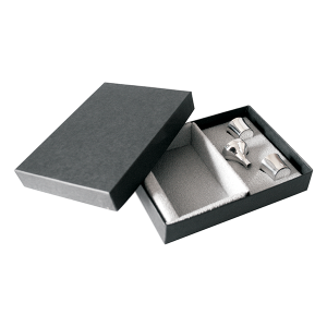 Hip Flask Presentation Box with 2 Nip Cups & Funnel