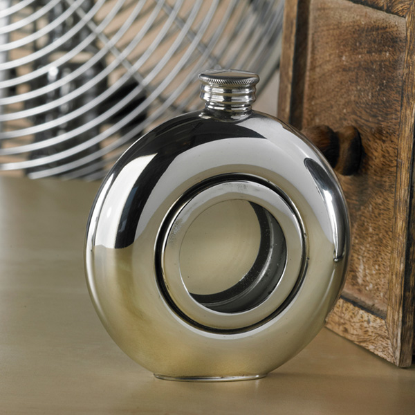 Window Engraved Hip Flask With Presentation Box And Free Engraving