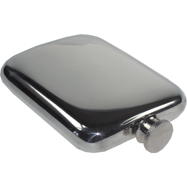 Luxurious Cushion Engraved Hip Flask