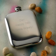 Cushion Engraved Hip Flask with Free Engraving