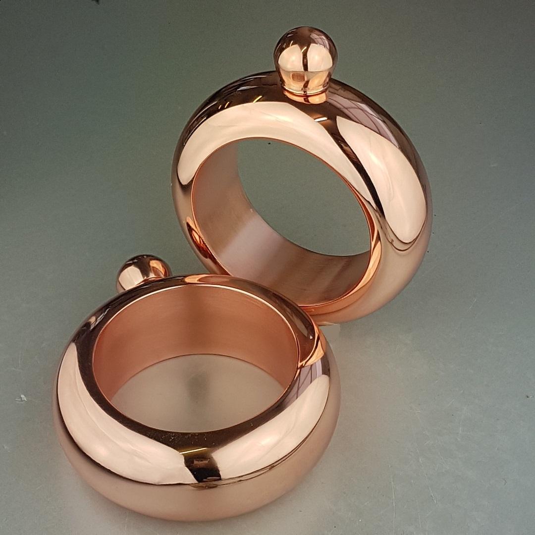 Ladies' Copper Bangle Hip Flask 4