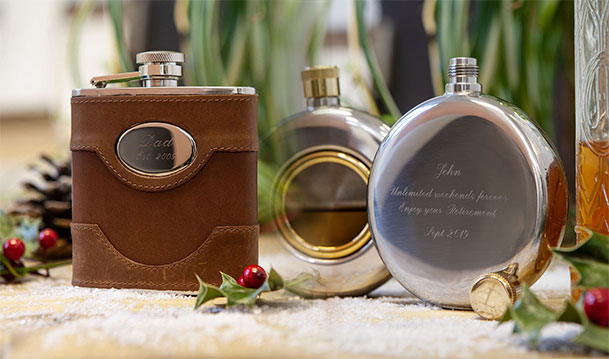 Pre-Christmas Sale - Save 10% on Personalised Hip Flasks and Engraved Hip Flasks