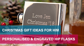 Personalised & Engraved Hip Flask For Christmas