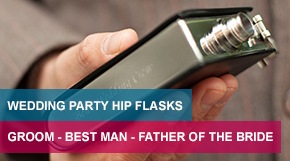 Wedding Party Hip Flasks - Groom - Best Man - Father Of The Bride